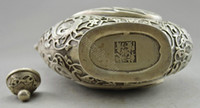 Wholesale Details about Collectible Decorated Old Handwork Tibet Silver Carved Phoenix Tea Pot