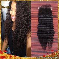 Cheap Virgin 7A Brazilian Deep wave Silk Closure Free Middle 3 Part Cheap Silk Base Closure Brazilian Hair 4x4 Silk Top Closure