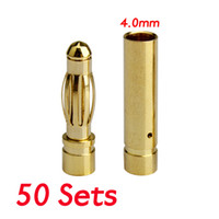 banana electric rc cars - Sets New mm mm RC Battery Gold plated Bullet Connector Banana Plug PTSP