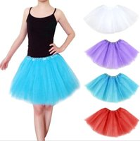 2015 de la moda nuevo color caramelo enaguas del vestido de bola de la falda de las mujeres que bailan la falda Rockabilly Tutu Petticoat Mini faldas de ballet envío libre
