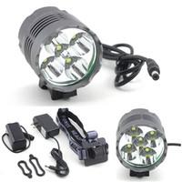 Wholesale Outdoor Ultra Bright Lumen x x CREE XML XM L T6 LED Front Head Bicycle Lamp Bike Light Headlight Flashlight DC Battery Q2