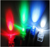 Wholesale Christmas Gifts Dazzling LED Laser Bright Finger Laser Party Flash Ring LED Lights Toys By Free Postage