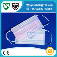 Pink anti flu - Brand new female s pink medical surgical face mask anti odor flu pollen used in beauty salon box non woven drop shipping
