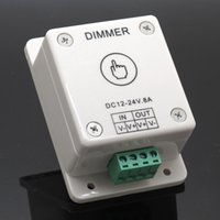 Wholesale 1pcs Led Strip light Touching Dimmer Switch DC V A Brightness Adjustable Controller