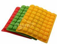 Wholesale Alphabet Ice mold Silicone Tray English letters DIY handmade chocolate scone cake mold ice trays