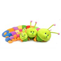 Wholesale Plush Dolls Plush Toys Stuffed Plush Toys Large Plush Hot Sell cm Colorful Kids Caterpillars Plush Toys The Centipede Big Bugs Doll Insect