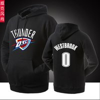 basketball hoodies sweatshirts men - BASKETBALL THUNDER WESTBROOK NO Hooded Pullover Spring Autumn Winter Hoodies Men Cotton Sports Sweatshirts