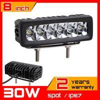 Wholesale 8inch W LED Work Light Tractor Truck v v SPOT Offroad Fog Drive light LED Worklight External Light seckill w w