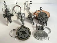 big metal stars - DHL Free Design Children Star Wars Key buckle new Star Wars Airship key ring baby Keychain B
