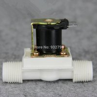 Wholesale 1 quot DC V V V Electric Solenoid Valve N C Water Inlet Flow Switch Normally Closed Mpa Mpa order lt no track