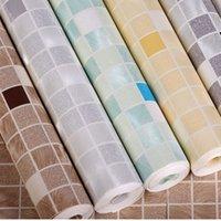 best bathroom tiles - Best Hot Modern Mosaic Vinyl Wall Paper Roll Simulation Tile Wallpaper D Wallpaper For Bathroom TV Backdrop Kitchen Living Room