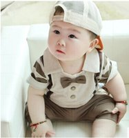 Wholesale Small gentleman short sleeve pants Set month baby boy years old baby clothes infant clothing