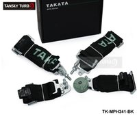 Wholesale Black Green TAKATA Seat Belt with FIA Homologation Harness Racing Satefy Belt width inches Point TK MPH341