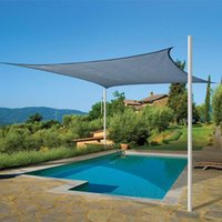 Wholesale Rectangle Outdoor Shade Sail UV Protection Pool Garden Canopy Cover Size M M Beige Sun Shades for Patio