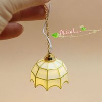 bats plastic dolls - 1 Dollhouse Miniature Chandelier Room Decor LED light Doll House Light w Bat