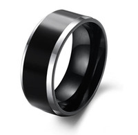 Wholesale NEW Arrivel Fashion mm Comfort Fit Black Pure Tungsten Ring for Men
