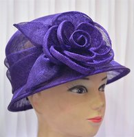 floral bucket hat - Summer s Flapper Sinamay Floral Cloche Bell Bucket Millinery Church Hat Navy