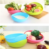 Wholesale Brand New Candy Color in Rinse Bowl and Strainer Fruit Vegetable Wash cm For Home Kitchen
