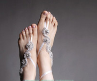 barefoot beach weddings - Bridal Anklets Summer Beach Weddings Rhinesones Barefoot Sandals Bridal Accessories