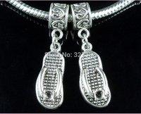 antique drapes - New Fashion Jewelry Vintage Charm Antique Silver Alloy Sandals Charm Pendant Drape DIY Jewelry Fitting mm E0705