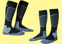 Wholesale Sports Socks Professional snowboard socks men and women ski socks outdoor sports necessities wool towel warm tights high for feet protection