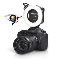Cheap Aputure HC100 CRI 95+ Amaran Halo LED Ring Flash Light Speedlight for Canon EOS 7D 6D 50D 5D Mark II III 700D 70D DSLR Camera