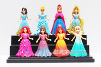 Wholesale Hot Princess Toys Elsa Anna Ariel Snow White Aurora Belle Cinderella PVC Figure Toys set