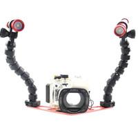 Wholesale lightweight underwater flex arm base tray lumen diving light set for compact camera gopro