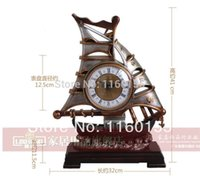 antique chinese desks - Chinese Style Classical Creative Artistic Modelling Sailing Desk Clock