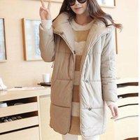 Wholesale fashion winter women coat long sleeve hooded maternity coat loose jacket coat casual outwear upset winter coat