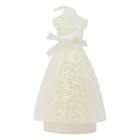 Wholesale Adorable Wedding Veil Mold Figurine Candle with Exquisite Gift Box Table Setting Dinner Party