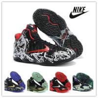 parachute fabric - Nike Lebron XI Kings Pride basketball shoes Parachute Gold Graffiti KING James Miami Heat MVP ship athletic Shoes