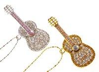 Wholesale 30 new Jewelry guitar u disk real capacity GB GB GB GB USB flash drive memory stick USB flash pen drive package