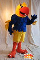 Wholesale Customized Yellow Eagle Mascot Costume Cartoon Character Fancy Dress Adult Outfit