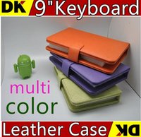Wholesale 15PCS colours USB Keyboard Leather Case For inch Android Tablet pc Folding Leather Protective Case