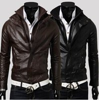 Wholesale 2015 Hot sell fashion leather leather jacket men slim spring leather jacket men trend high quality jacket men leather motorcycle brand
