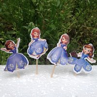 Wholesale Sophia The First Princess Sophia Cupcake Cake Wrappers Toppers Picks Sofia Kids Birthday Party Supplies