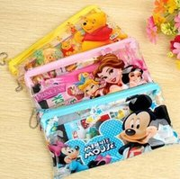 Wholesale 2015 new Frozen Minions Spiderman Baymax Mickey Sofia Princess Pencil Cases Stationery sets for School students Kids Pencils Pencil Bag