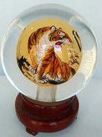 art china - 2016 New glass globe terrarium inner tiger Chinese handicraft arts and crafts as a gift to send people or decorations