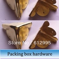 Wholesale 10pcs mm Packing box hardware antique wrap angle box wine wrapping angle four corners Kok yellow