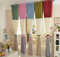 bedroom window height - Curtains Custom made Solid Color Patch Work Curtain Length Height m or More Nursery Curtains