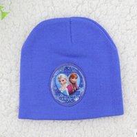 Cheap winter Frozen elsa anna hat Children's beach hat UV cap accessories caps bone snapback beanie bucket hat Knitting warm