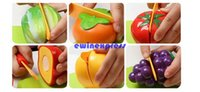 Wholesale Christmas Kitchen Food Play Toy Kitchen Food Pretend Play Toy Cutting Vegetable Fruit Knife Toys For Baby Kids Gift