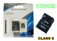 Wholesale 128GB Micro SD Card Micro SD CLASS10 TOP TF Memory Card C10 Flash SDHC SD Adapter White Orange Retail Package FREE DHL