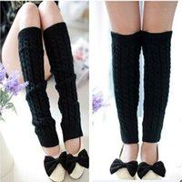 Wholesale Women Knit Crochet Leg Stockings Warmers Knitted Wool Casual Warm Boot Woolen Socks For Lady Knee Socks M1750
