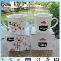 Wholesale ceramic mug with lid