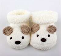 bear slippers sale - HOT SALE Cute Cartoon Baby Socks Bear Manual Slipper Shoes Newborn to Month Autumn Winter Infant Gift