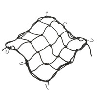 Wholesale Black Metal Hooks Elastic Luggage Net Motorcycle Bicycle Cargo Net Fixed Helmet Sundries BIke Luggage Rope Mesh Web Bungee