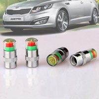 Wholesale 4Pcs New Car Auto Tire Pressure Monitor Valve Stem Caps Sensor Indicator Eye Alert Diagnostic Tools Kit A3006034