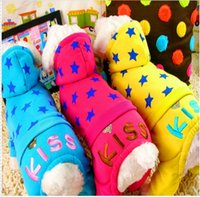 Wholesale PETCIRCLE Kiss Star legged Pants Dog Hooded Clothes Sport Sweater Pet autumn winter clothing Teddy warm coat color XXS XS S M L